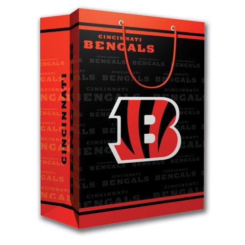 Pro Specialties Group NFL Geschenktasche - ideal für Sportfans, orange/schwarz, Medium