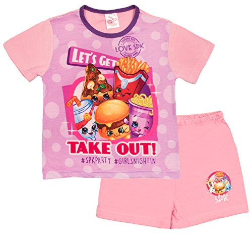 Lora Dora Girls Shopkins Pyjamas Full Length PJS Set Kids SPK Shoppies 2 Piece Kids Size UK 4-10 Years