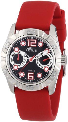 Lotus 15706-4 - Reloj analógico de Cuarzo para Mujer con Correa de Caucho, Color Rojo