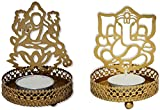 #10: SHADOW laxmi Ganesh LAMP diya : candlle tea light holder SET OF 2