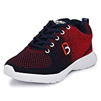Bourge Boy's Red and Navy Running Shoes-4 UK (38 EU) (5 US) (Orange-04)