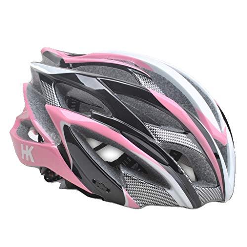 WXQX Erwachsenen Helm und Kinder Rollschuh Helm Rollschuhe Balance Bike Schutzhut Sport Outdoor Eltern-Kind-Ausrüstung ; (Color : Pink, Size : M)