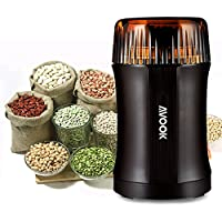 Spice Grinders Electric Coffee Grinder, AVOOK Seed Grinder Stainless Steel Blade Grinder for Coffee Bean, Beans, Seeds, Nuts, Spices, Herbs, Pepper Burr Mill