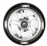 Blunt 120mm Stunt-Scooter Wheel Rolle + ABEC 9 Kugellager + Fantic26 Sticker (Silber)