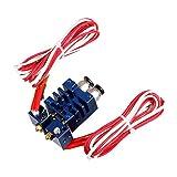 Chimäre Extruder V6 2 Eingänge, 2 Ausgänge Dual-Kopf-Hotend 0.4mm / 1.75mm Für 3D-Drucker - Blau, 12V