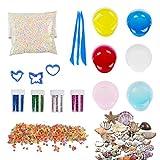 MKT DIY Schleim Spielzeug, Crystal Clay 6/12 Farben Clear Slime für Kinder (6 Pack)