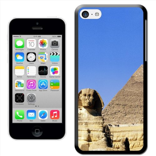 Fancy A Snuggle 'Ägyptische Pyramide und Sphinx Giseh' Hard Case Clip On Back Cover für Apple iPhone 5 C Egypt Pyramid & Sphinx Giza