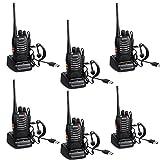 QITAO® BAOFENG Walkie-talkie Funkgerät 16 Kanäle Sprechfunkgerät Funktelefon in beiden Richtungen Gegensprechanlagen Funkhandy (6PCS)
