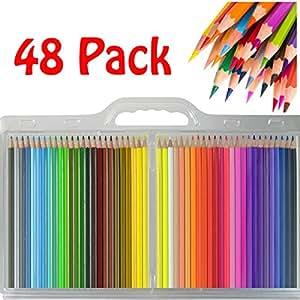 48 hochwertige buntstifte f r erwachsene buntstifte f r erwachsenen malb cher tolles starter. Black Bedroom Furniture Sets. Home Design Ideas