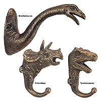 Design Toscano Decorative Dinosaur Wall Hook, Gold