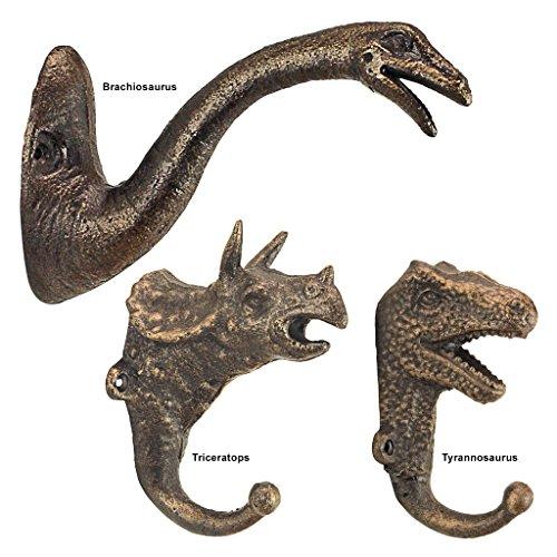 Design Toscano Dekorative Dinosaurier Gießerei Gusseisen Wandhaken Kollektion, Gold