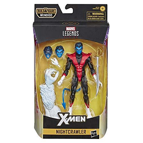 Marvel acción Coleccionable Legends Series de 6 Pulgadas (X-Men/X-Force Collection) - con Parte de construcción de Figura de Wendigo, Color sí. (Hasbro)