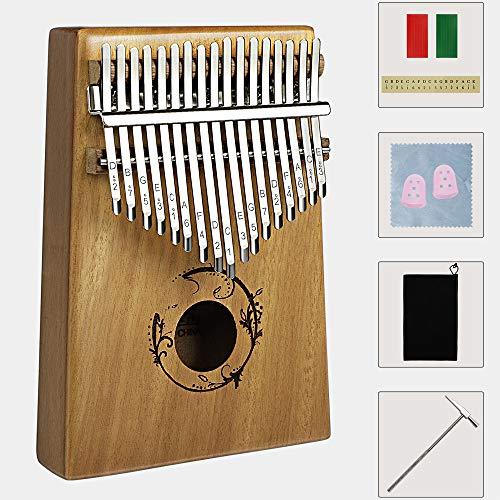 Homealexa Kalimba 17 Schlüssel, Kalimba Daumenklavier 17 Key, Mahagoni Finger Klavier, Mini Thumb Piano mit Stimmhammer Tragetasche für Musikliebhaber und Anfänger, Musikinstrument Geschenk für Kinder