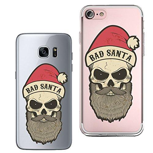 Original Lanboo® Silikon Case #3 Motiv 15 - Für Apple iPhone 6 / 6s Design Druck Tasche Hülle Cover Etui Cartoon Disney Weihnachten Bad Santa Böser Weihnachtsmann Schädel (Disney Böse)