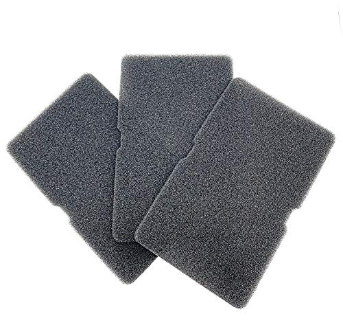 Beko Grundig 2964840100 - Set di 3 filtri per asciugatrice a pompa di calore, con filtro in spugna, 240 x 150 x 10 mm