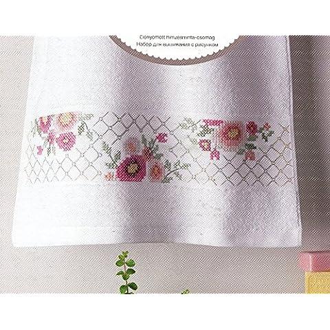 Rico Design Fiori Kit asciugamano, 100% cotone, Multicolore