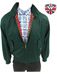 Harrington Jacket by Warrior Clothing BRITISH RACING GREEN (Small)