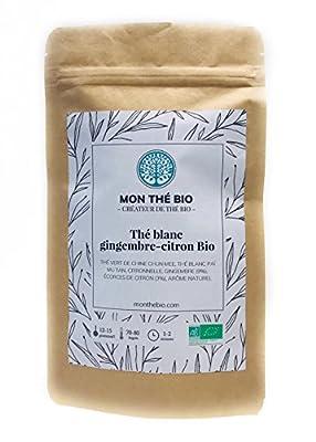 Thé blanc Gingembre-citron BIO - Sachet 100g - Certifié agriculture biologique