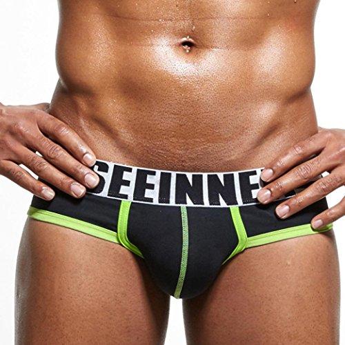 Ba Zha HEI Männer Unterwäsche Shorts Männer Unterhose Soft Briefs Sommer Mode Herren Shorts Weiche Slips Ausbuchtung Männerunterwäsche