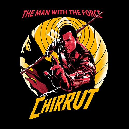 The Man With The Force Chirrut Star Wars Rogue One Men's Vest Black