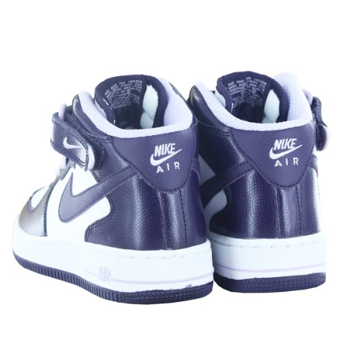 BASKETS AIR FORCE 1 MID JR WHITE/PURPLE - Nike Blanc