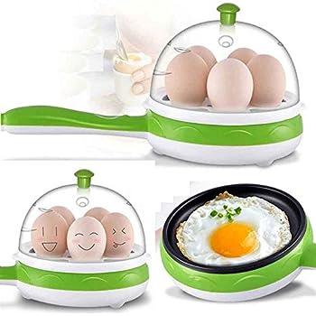 Getko With Device Multifunction 2 in 1 Electric Egg Boiler Steamer Omelette Frying Pan Non-Stick Boiled Eggs Boiler Steamer (Random Color)