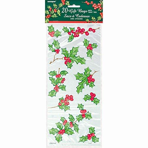 Accessori Festa Natale , Set 20 Sacchetti Dolci Vischio *05298