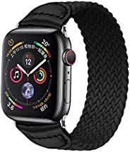 Joyeworld Suitable for Apple Watch replacement strap with single loop elastic woven strap,suitable for Apple W