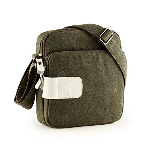 Sincere® Toile sac à bandoulière / sac Messenger Loisirs / extérieur sac de sport / paquet-vert Student Sac à dos / personnalisé