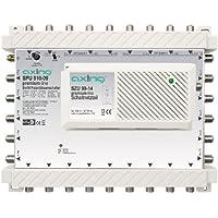 Axing SPU 910-09 SAT-Multischalter 10 Teilnehmer DiSEqC erweiterbar aktiv Quad-tauglich energiesparend (9 x 10)