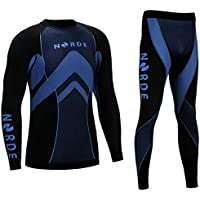 Norde THERMOTECH Herren Funktionswäsche Thermoaktiv Atmungsaktiv Base Layer Set Outdoor Radsport Running