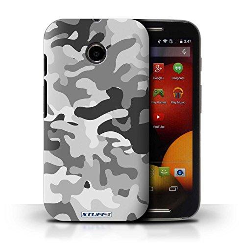 Kobalt® Imprimé Etui / Coque pour Motorola Moto E (2014) / Marron 2 conception / Série Armée/Camouflage Blanc 1