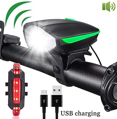 MrFlying Vordere und hintere Einheit, USB wiederaufladbar und wasserdicht, 3 Modi und 4 Modi für schnelle Installation -