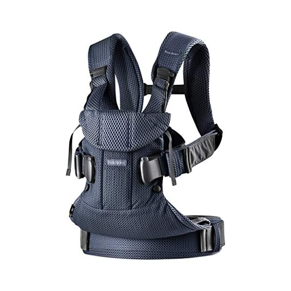 BABYBJÖRN Baby Carrier One Air, 3D Mesh, Navy Blue, 2018 Edition Baby Bjorn The latest version (2018) with soft and breathable mesh that dries quickly Ergonomic baby carrier with excellent support 4 carrying positions: facing in (two height positions), facing out or on your back 2