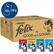 Felix As Good As It Looks Cat Food Mixed Variety 120 x 100g (120 Pouches)