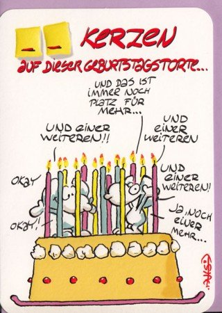 Lustige Geburtstagskarte __ Kerzen