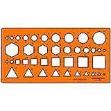 Plantilla Graphoplex múltiples símbolos / secciones transversales Naranja Transparente