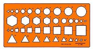 Graphoplex Gabarit multi-symboles / sections transversales Orange Transparent