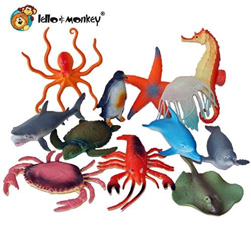 12 Toy animal figures sea creature