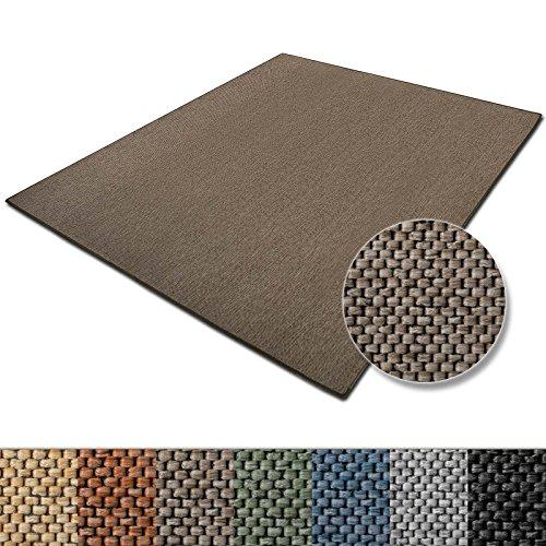 casa pura Teppich Sabang | viele Farben und Größen | Flachgewebe, Sisaloptik | Qualitätsprodukt aus Deutschland | GUT Siegel | für Wohnzimmer, Kinderzimmer, Flur etc. (beige, 80x150cm)