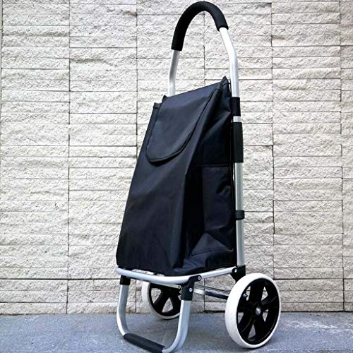 XRFHZT Haushalts-Klapp-Mappportable tragbarer Alter Mann Klettern Warenkorb kleinen Wagen leichten großen Rad-kleinen Anhänger (Rad Warenkorb Großes)