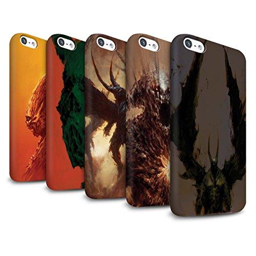 Offiziell Chris Cold Hülle / Matte Snap-On Case für Apple iPhone 5C / Ungeheuer/Troll Muster / Wilden Kreaturen Kollektion Pack 6pcs