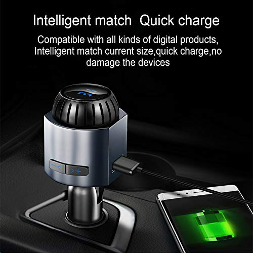 Car-Bluetooth-FM-Transmitter-with-Intelligent-USB-Ultra-Fast-Charging-Chip-Full-Duplex-sound-quality-6-Months-Replacement-Festival-Combo-OfferFree-Car-Smoke-Tray-Cigarette-ash-Card-Coins-etc