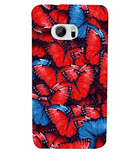 Fuson Premium Butterflies Printed Hard Plastic Back Case Cover for HTC M10