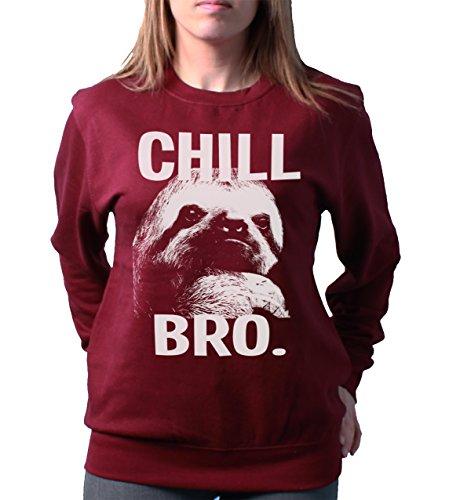 Chill Bro Sloth Ladies Unisex Loose Fit Sweatshirt