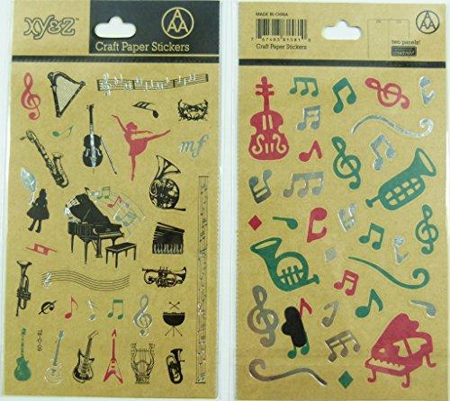 Arte papel pegatinas - Música Temáticas Instrumentos