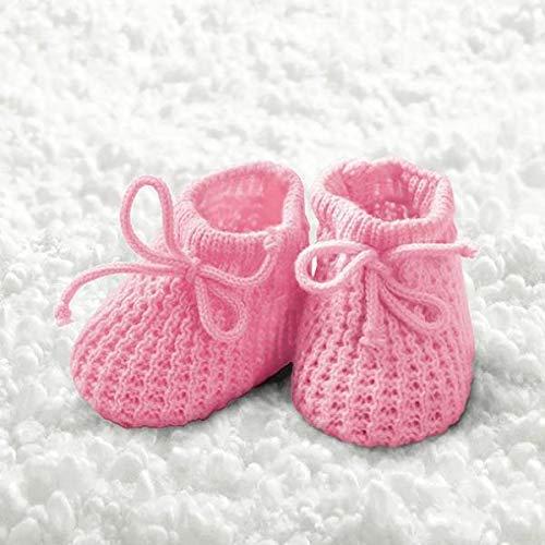 Ambiente Baby Girl Booties - Servietten 33x33 cm Baby Girl Bootie