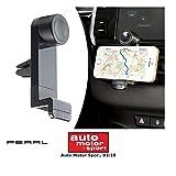 PEARL Handyhalter Lüftung: Kfz-Universal-Smartphone-Halterung für Lüftungsgitter, 53-90 mm Breite (Handyhalterung Auto Lüftung)