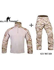 Homme uniforme de combat militaire airsoft chasse Gen3 uniforme tactique MCAD