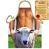 Sexy Motiv: Happy Schaf - Fun - Grillschürze one Size Fb bunt mit GRATIS Geschenk-Urkunde : )